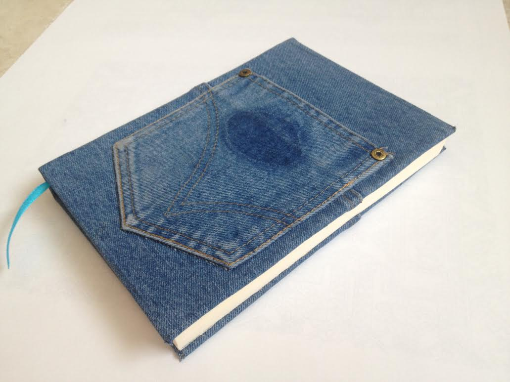 Denim Book Cover Diy ~ Another happy customer hand bound books journals
